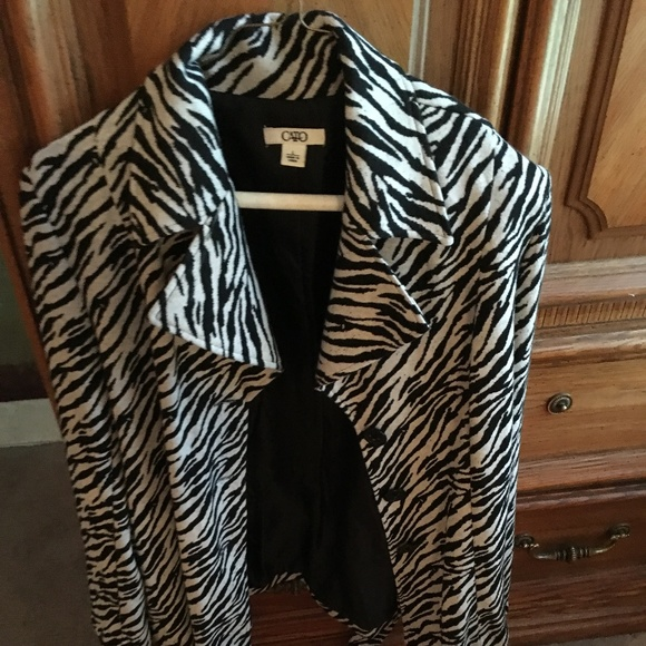8cb86309bbc2b Cato Jackets   Blazers - Women s Large Zebra print Coat